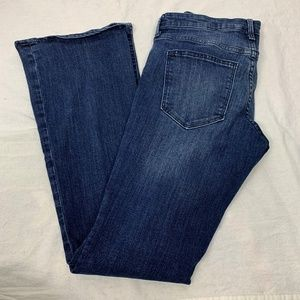 Gap Womens Baby Boot Cut Jeans SZ 6 Dark Wash Blue
